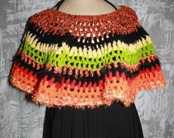 warmers shoulders or poncho short cotton/acrylic AUDREY /laine