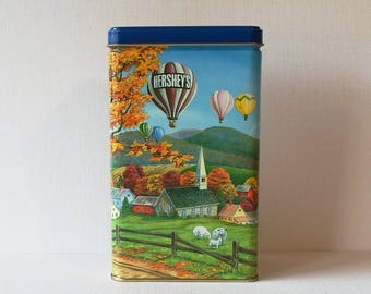 Vintage Hershey's Kisses Hometown Series Canister  #11 Collectible Tin 1994