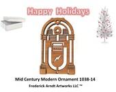 1038-14 Mid Century Modern Christmas Ornament