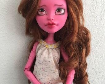 Monster High Custom Repaint 17 inch OOAK art doll Gooliope