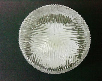 Heavy clear glass sconce, ceiling / light, Germany