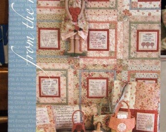 From the Heart - Natalie Bird - Australian Designer - Birdhouse Designs - Quilt and Embroidery Pattern Book