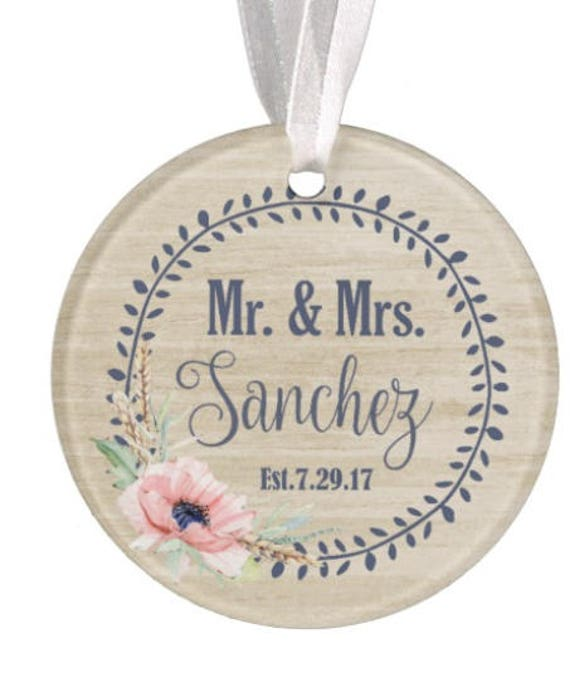 Baptism Ornament Christmas Ornament By Ryellecreations On Etsy: Personalized Wedding Ornament Christmas Ornament