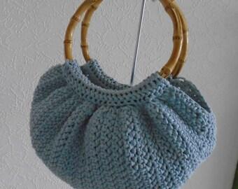 hand crochet , fat bottom bag