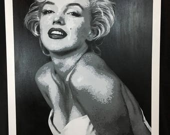 Marilyn Monroe Stencil Painting