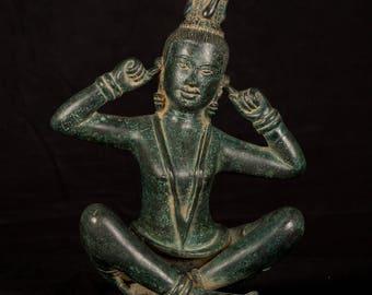 "19th Century Antique Hear No Evil Statue - 28cm/11"""