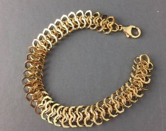 Gold Bracelet - Gold Jewelry - Chain Link Bracelet - Jewelry Gift - Holiday Jewelry - Gift for her - Chain link Jewelry - Stack Links