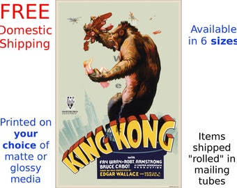 King Kong - Digitally Restored & Retouched Poster from the Movie (265136555)