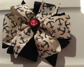 Nautical hair bow