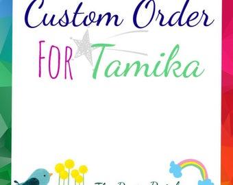 CUSTOM ORDER for TAMIKA: Pom Pom Flowers