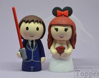 Wedding Cake Topper - Star Wars & Mouse Ears
