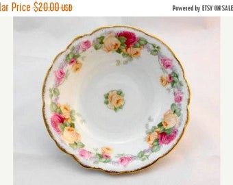 JULY SALES EVENT Thomas Bavaria Vintage China Bowls with Yellow and Pink Flowers-China Bowls-Berry Bowls- Vintage Bowls-Christmas Gift Idea