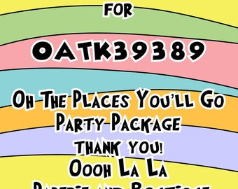 Oh the Places You'll Go Party Package Part 3