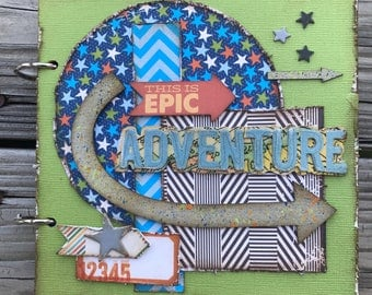 Epic Adventure Premade chipboard mini album