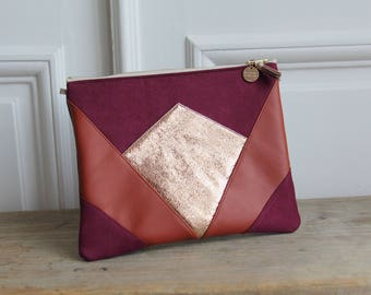 Pocket * NINA * Burgundy and gold.