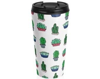 Prickly Cactus Steel Travel Mug