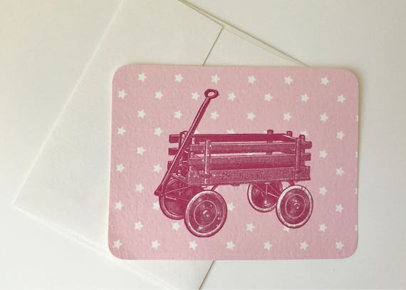 Pink Vintage Wagon Card