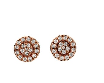 14K  Gold, Earring  with 36  Diamond     0.35 CTW