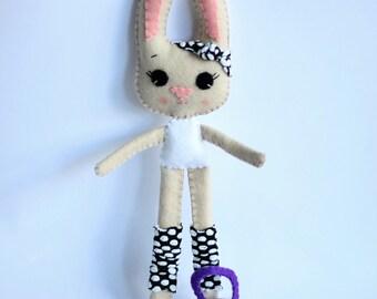 Bunny Girl Doll Kettlebell Fitness