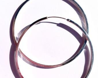 """Sterling silver 2 1/8"""" hoop earrings"""