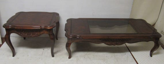 Coffee table and end table traditional style