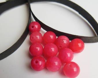 set of 12 round gemstone beads