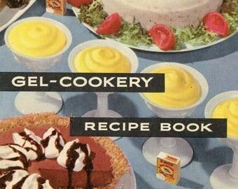 """1958 """"Gel-Cookery Recipe Book"""""""