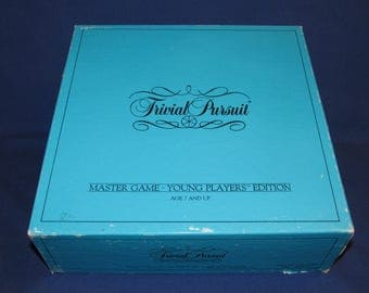 TRIVIAL PURSUIT Young Players Edition Master Game 1984