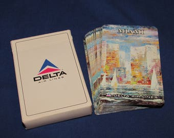 DELTA AIRLINES MIAMI Playing Cards