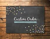 Custom barn invite prints for Sarah
