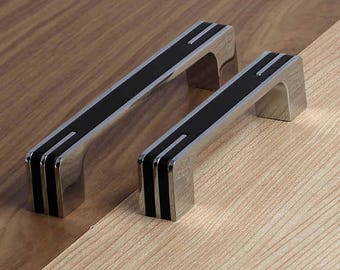 Black Pulls Handles Dresser Handles Modern / Drawer Pulls Knobs Handles  Cabinet Knob Kitchen Furniture Handle