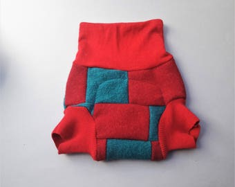 Wool soaker Ready to ship, cloth diaper wool cover,  cloth nappy wool cover, medium size (5-12 month), fitted diapers