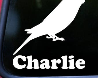 """BUDGIE 5"""" x 5.5"""" Vinyl Decal Sticker w/ Personalized Name - Budgerigar Parakeet Parrot *Free Shipping*"""