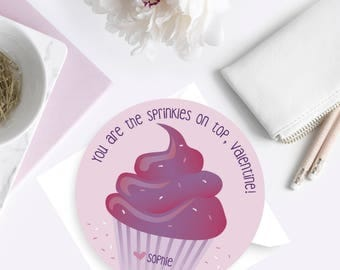 Cupcake Valentine Card