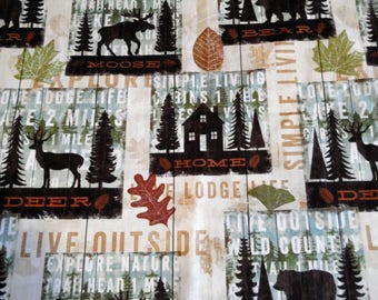 Lodge Life Fitted Crib/Toddler Sheet