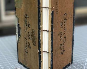 Cigar box coptic binding