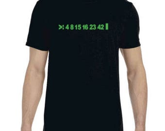 Lost, T-Shirt, Numbers, Lost TV Show, 4, 8, 15, 16, 23 and 42