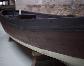 Brown Wooden Boat, Vintage Boat, Italian Navy, Nautical History, Sleek Sailing Boat, Antiques