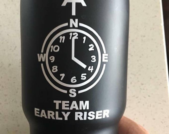 Team Early Riser vinyl decal, Early Riser sticker, team early riser, appalachian trail thru hiker