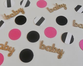 Kate Spade Confetti. Kate Spade Baby Shower. Pink and Gold. Baby Shower Decor By Paper Rabbit. Kate Spade Bridal Shower
