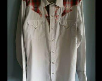 Vintage mens H bar C western shirt.