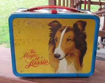 Vintage Lassie Metal Lunch Box, 1978