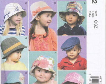 Cheapest Shipping. Infants'/Toddler Hat Pattern. McCall's 6762. One Size. Toddler Hat Pattern. Boys' Hat Pattern. FF, Uncut.