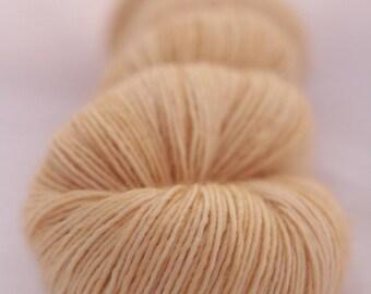 Hand-dyed yarn - sock yarn - superwash - merino - dyed-to-order - BEURRE