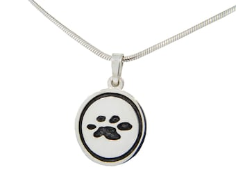 4 Paws - Button Pendant - Recessed
