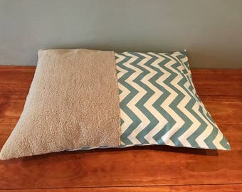 Light Blue Chevron Half & Half Dog or Cat Bed Cover