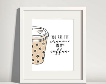 Coffee Sign Coffee Wall Art Coffee Wall Decor Coffee Nook Sign Coffee Bar Sign Printable Coffee Lovers Gift But First Coffee Print