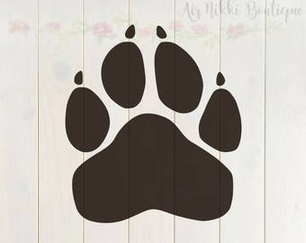 Paw Print with nails SVG, PNG, DXF files, instant download