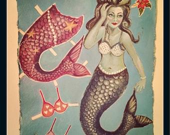Fancy Dress Mermaid poster print