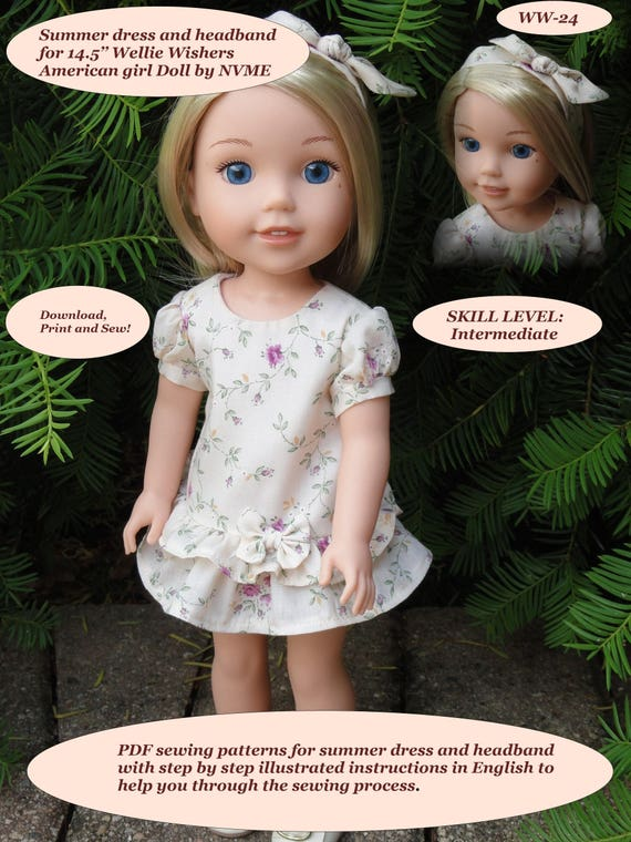 PDF Doll Clothes Pattern for 145 39 39
